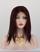 Dark Wine Color Brazilian Virgin Hair Lace Wigs Straight Full Lace Human Hair Wigs Virgin Remy Hair Wig with Baby Hair