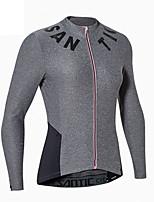 חולצת ג'רסי לרכיבה לנשים שרוול ארוך אופניים ג'רזי טרילן אופנתי אביב קיץ ספורט פנאי אזור נידח