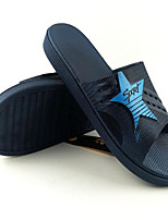 Men's Slippers & Flip-Flops Comfort PVC Spring Casual Screen Color Dark Grey Navy Blue Flat