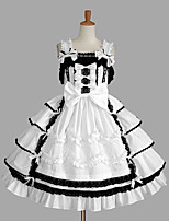 Women's Lolita Dress Cosplay Girl Dress Classic/Traditional Lolita Sexy Cosplay Lolita Dress Fashion Vintage Cap Sleeveless Short / MiniTuxedo