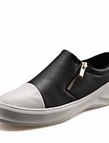 Для мужчин Мокасины и Свитер Удобная обувь Дерматин Полиуретан Весна Повседневный Белый Черный На плоской подошве