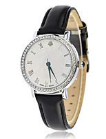 Mulheres Relógio de Moda Quartzo Calendário Impermeável Couro Banda Preta Marrom