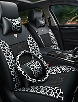 Car Seat Cushion Car Seat Cover Family Car Seat 5 Leopard Leather Silk Four General Black And White