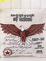 1 Pcs Cartoon Vintage 1887 Eagle Pillow Cover Cotton/Linen Pillow Case