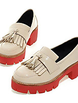 Для женщин Кеды Удобная обувь Наппа Leather Кожа Весна Повседневные Удобная обувь Черный Бежевый Вино На плоской подошве