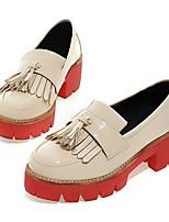 Women's Sneakers Comfort Cowhide Nappa Leather Spring Casual Comfort Burgundy Beige Black Flat