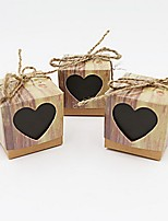 50pcs Sweetheart Love Kraft Favor Box Gift Box Rustic Party Candy Box 5x5x5cm/pcs Beter Gifts® Wedding Candy Decoration