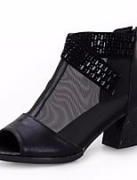Для женщин Ботинки Удобная обувь Полиуретан Весна Повседневный Золотой Черный На плоской подошве