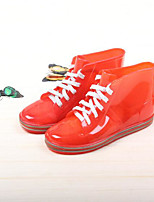 Girls' Flats Comfort Jelly Shoes Rubber Spring Fall Outdoor Casual Walking Magic Tape Low Heel Blue Red Black Flat
