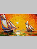 Hand-Painted Boat Oil Painting On Canvas Modern Abstract Wall Art Picture For Home Decoration Ready To Hang