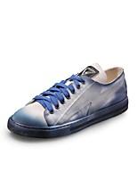 Для мужчин Кеды Удобная обувь Полотно Весна Осень Повседневный На танкетке Синий 2,5 - 4,5 см