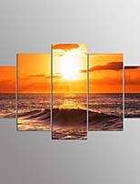 Stampe a telaCinque Pannelli Orizzontale Stampa Decorazioni da parete For Decorazioni per la casa