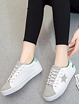 Women's Flats Comfort PU Spring Casual Black White Flat