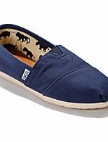 Для женщин На плокой подошве Удобная обувь Полотно Полиуретан Весна Повседневный Серый Красный Зеленый Синий На плоской подошве