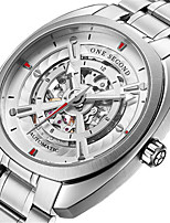 Men's Fashion Watch Mechanical Watch Automatic self-winding Calendar Water Resistant / Water Proof Noctilucent Stainless Steel Band Silver