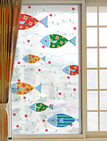 Window Film Window Decals Style Fish Dull Polish PVC Window Film - (60 x 116)cm