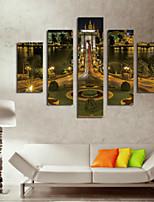 Художественная печать Пейзаж Modern,5 панелей Горизонтальная С картинкой Декор стены For Украшение дома