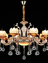 Pendant Light Zinc Alloy Feature for Crystal Mini Style Metal Bedroom Dining Room Hallway 8 Bulbs