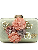 Women Clutch Polyester Silk Cotton Metal Summer Winter All Seasons Spring Fall Formal Casual Event/Party Wedding Office & Career Flap