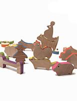 Kit Faça Você Mesmo para presente Blocos de Construir Quadrada Circular Brinquedos