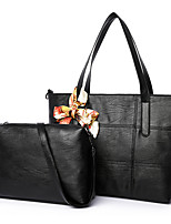 Women Bag Sets PU All Seasons Formal Casual Event/Party Wedding Office & Career Barrel Zipper Gray Red Black