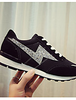 Women's Athletic Shoes PU Spring Black Flat