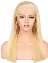 Full Lace Human Hair Wigs With Baby Hair Blonde Wig Straight Brazilian Hair Remy Color 613   130% Density