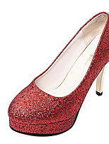 Women's Heels Club Shoes Moccasin Comfort Summer Fall Office & Career Dress Casual Sparkling Glitter Stiletto HeelBlushing
