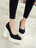 Women's Heels Slingback Pom-pom Shoes Spandex Summer Fall Casual Black Flat