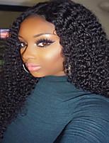 Peruca de renda encaracolada e cheia de peruca 100% de cabelo natural virgem humano com cabelo de bebê para mulheres negras