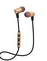 Cwxuan® magnético bluetooth sem fio desportivo de metal no ouvido fone de ouvido / auto-temporizador