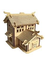 Пазлы 3D пазлы Строительные блоки Игрушки своими руками Китайская архитектура Дерево