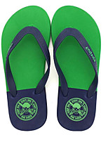 Men's Slippers & Flip-Flops Comfort PVC Spring Casual Gray Ruby Green Flat