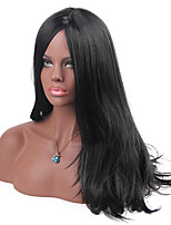 MAYSU Black Hair Split bangs Long Hair Synthetic Wig
