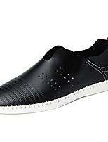 Для мужчин Туфли на шнуровке Удобная обувь Кольцевые обувь Полиуретан Весна Лето Для прогулок Для офиса Повседневный На плоской подошве
