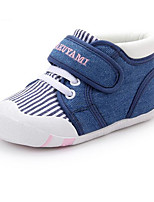 Girls' Flats Comfort First Walkers Fabric Spring Fall Casual Walking Comfort First Walkers Magic Tape Low Heel Blue Ruby Navy Blue Flat