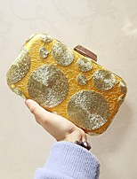 Women Evening Bag Silk All Seasons Event/Party Party & Evening Club Baguette Magnetic Gold