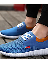Men's Sneakers Tulle Fabric Spring Gray Blue Khaki Flat
