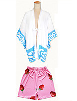 Cosplay Suits Cosplay Tops/Bottoms Kimono Inspired by Gintama Gintoki Sakata Anime Cosplay Accessories Top Pants Shawl Other Material FRP