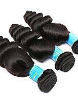 Tissages de cheveux humains Cheveux Malaisiens Ondulation Lâche 12 mois 3 Pièces tissages de cheveux