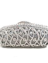 Women Fashion Handmade Crystal Evening Wedding Hand Clutch Bags Gold/Silver