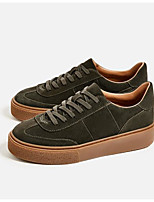 Women's Sneakers Comfort Suede Spring Casual Screen Color Army Green Black Flat