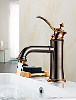 Oil Rubbed Bronze Tall Single Handle Lever Bathroom Sink Vessel Faucet