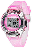 Women's Fashion Watch Digital Watch Digital Rubber Band Black Blue Red Green Pink Purple