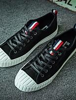Da uomo Sneakers Scamosciato Tulle Primavera Nero Cachi Piatto