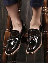 Для мужчин Мокасины и Свитер Удобная обувь Кожа Весна Лето Повседневный На низком каблуке Черный Темно-серый Вино 2,5 - 4,5 см