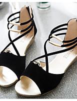Сандалии Обувь для малышей Резина Флис Весна Осень Повседневные Для прогулок Обувь для малышей На липучках На низком каблукеЧерный
