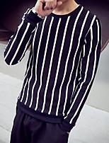 Activewear Set Homme Col Arrondi Micro-élastique Coton Manches longues Printemps Eté