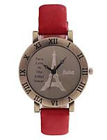 Женские Модные часы Кварцевый PU Группа Красный Зеленый Фиолетовый