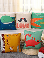 5 Design Creative Cartoon Giraffe Whale Pillow Cover Fashion Pillow Case